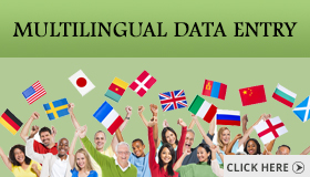 Multilingual Data Entry Ad Banner